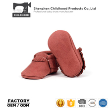 Wholesale Classical Fringes Baby Moccasins Genuine Leather Baby Shoes