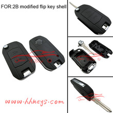 Replacement 2 Button HU46 Opel Modified Remote Key For Opel Car Flip Key Blank