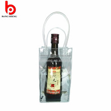 Waterproof Plastic promotional pvc ice bag for wine With Handle