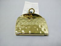 Golden Wallet Shaped Pocket Mirror