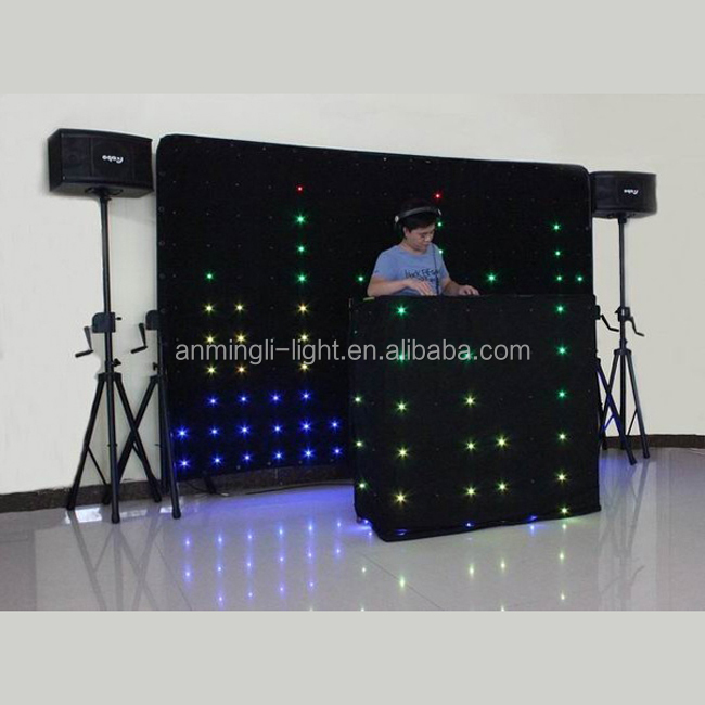 led dj light curtain/ led wedding curtain/ rgb led drape cloth