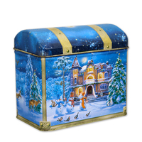 nice music tin metal box for Christmas gift