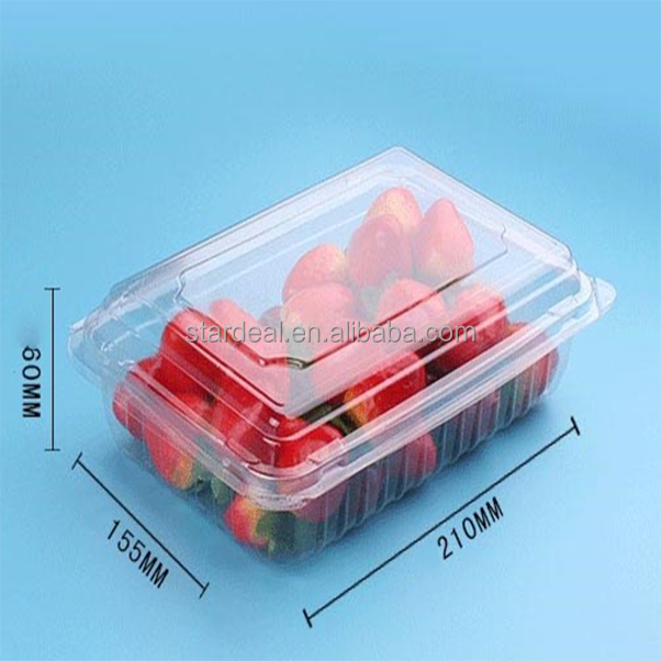 Eco friendly square clear plastic blister fresh fruits packaging tray for sales