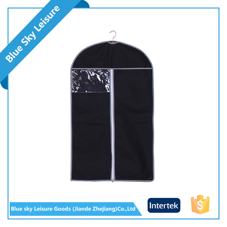 PP Nonwoven Fabric Breathable Dustproof Suit Cover Travel Garment Bag