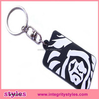 Hot selling cheap fashion key ring plastic card holder