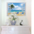 3d window wall stickers decal art mural sea beach 3d wall stickers home decor removable wallpaper for home decoration