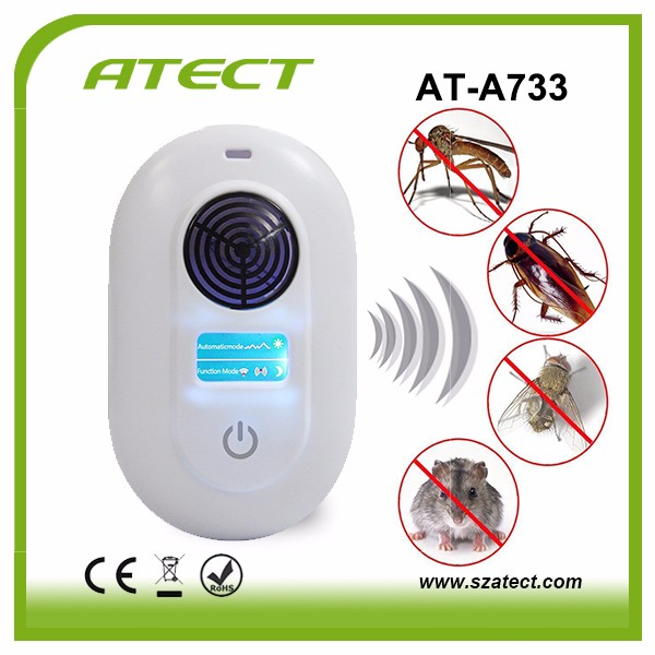 LCD Intelligent Electronic Ultrasonic Pest Repeller Electromagnetic Wave Mouse Repeller Rat Pests Repelling