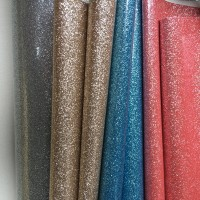 Shiny mirror glitter leather fabric for shoes,handbags