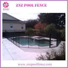 ZNZ SGS Factory Safety Removable Swimming Pool Fence Panel Textilene Mesh Portable Security Fence