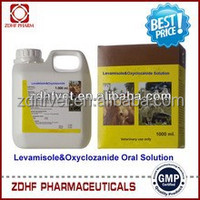 Veterinary deworming medicine company 1L Pack 1.5% Levamisole & 3% Oxyclozanide Oral Solution