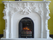 Perfect in workmanship with angel carved pellet fireplace