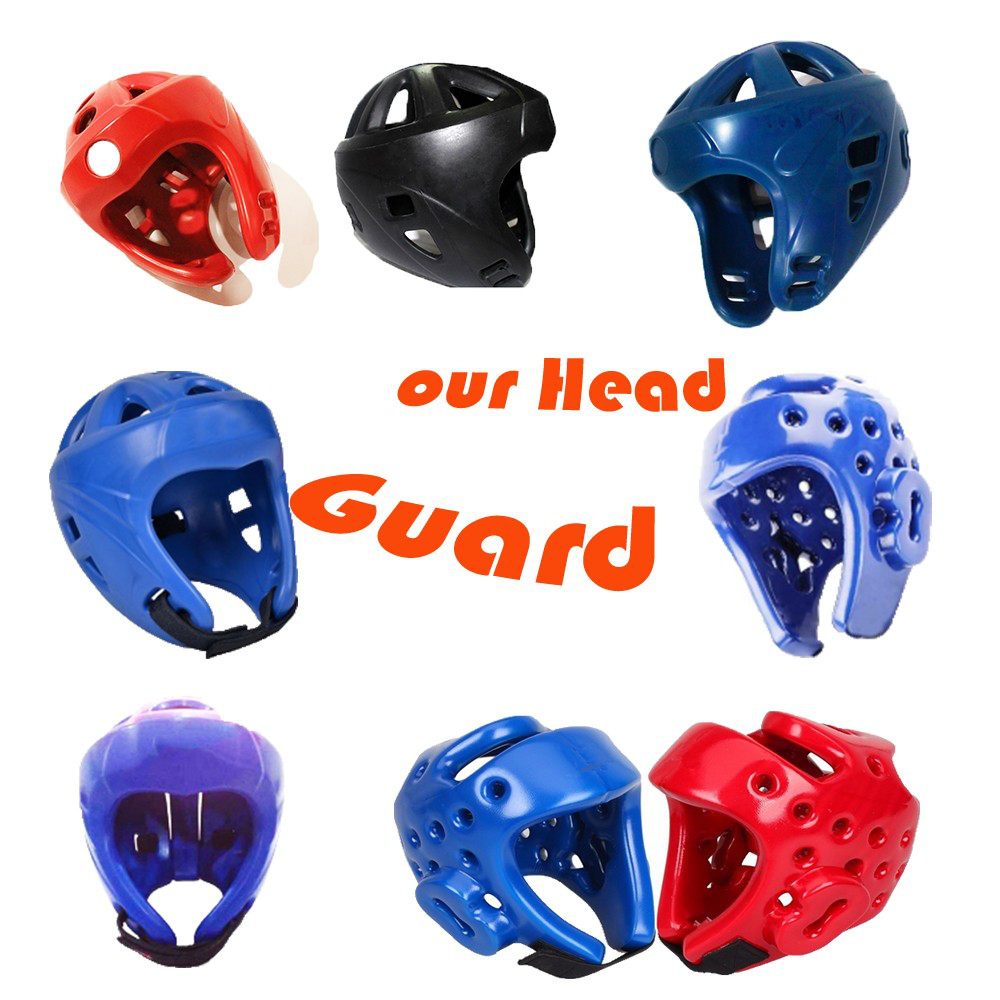 China OEM Pro Boxing Semi Face Head Guard