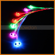 35cm LED LightUp Optic Fiber Hair Extension with Barrette Party Light Set