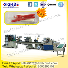 haihang cheap price hot sell napkin fork spoon toothpick automatic packing machine