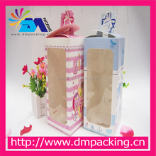 Open the window transparent sticker paper carton boxes Printing carton packaging made of PVC folding box