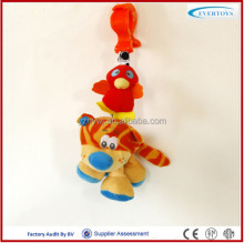 bird and cat musical hanging plush toy baby crib bell