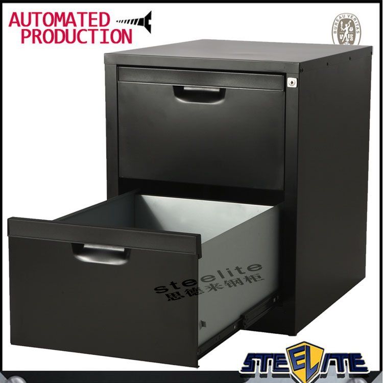office furniture lite black metal 2 drawer file cabinet Forte Compact Filing Cabinets for archive