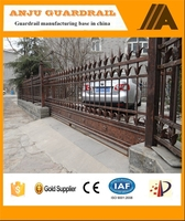 AJ-GATE005 Solid sliding steel entry metal gates design