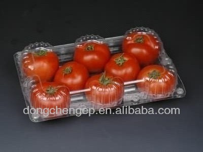 Nontoxic plastic dispoable food blister packaging container for tomato,strawberry ,cherry fruit