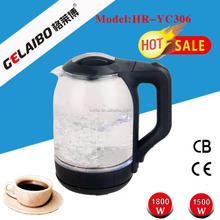good quality and competitive price clear glass electric kettle with color changing