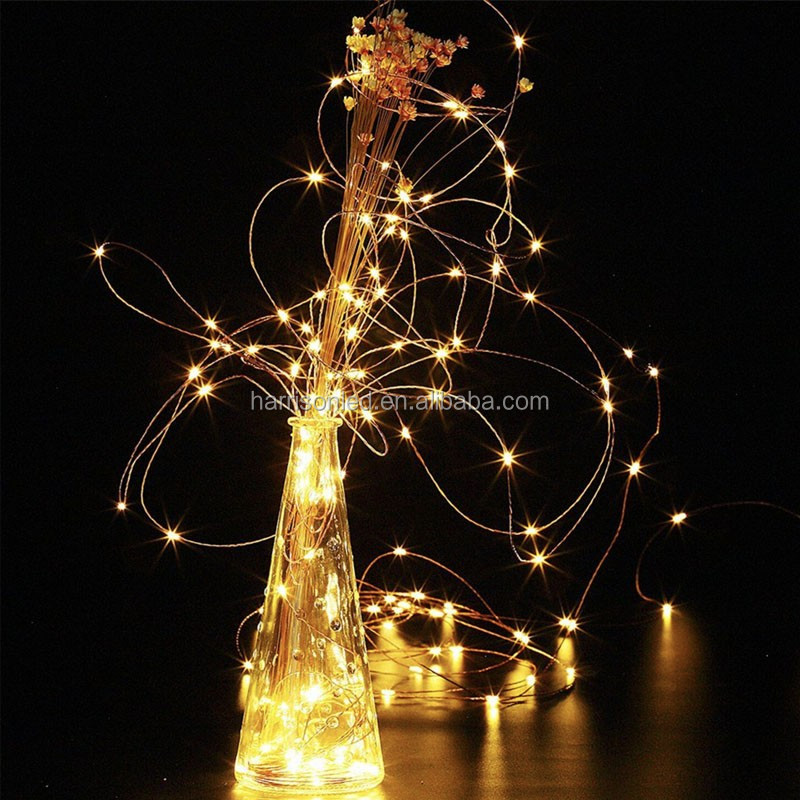 33ft 100 LED Copper wire Warm white 8 modes outdoor 3AA battery Timed flash dimmable remote starry string lights for decoration