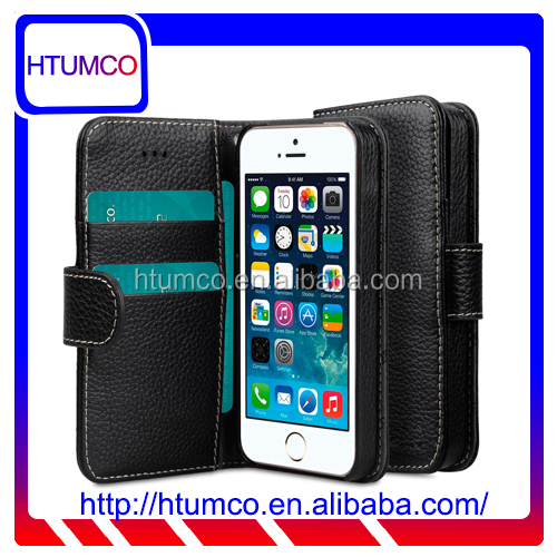 Wallet Book Mobile Phone Cover Premium Leather Case for Apple iPhone 5s / 5 / SE