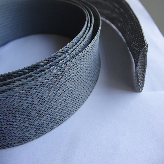 Excellent flame resistant knitted silicone fiberglass cable sleeving