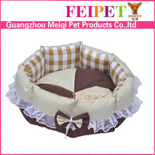 Fashion Floweral Round One-Piece Memory-Foam Bolster Dog Bed cheap round beds
