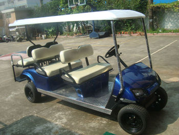 Restaurant hotel park use electric six seats golf cart manufacturer delivery with CE certification