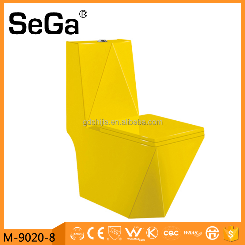 M-9020-8 Yellow colored one piece toilet