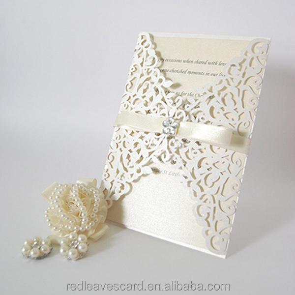 2018 Latest Art Paper Wedding Cards Invitation Blank Beautiful Printing Card Wed