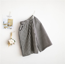1-7 years Wholesale 2017 New Fashion Autumn Plaid Kids Wide Leg Pants (pick size )