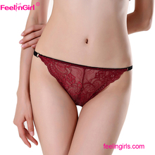 Amazon Dropship China Dropship Company Sexy Hot Red Panty Underwear One Piece Ladies' Sexy Fancy Panty Thong