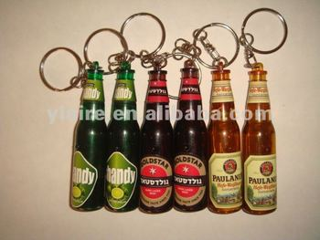 led beer flashlight keychain