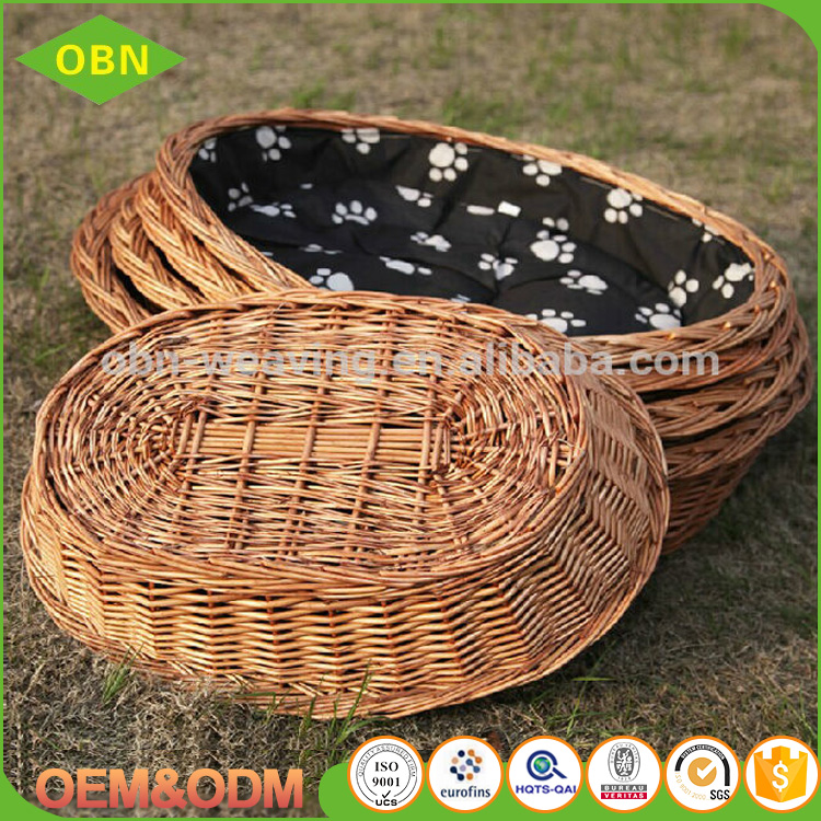 Hot sale cheap indoor cat houses wicker rattan pet house for dog