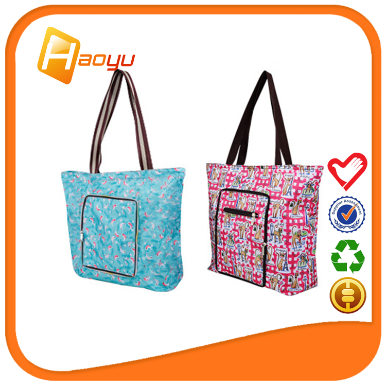 New <strong>promotion</strong> widely used perfect quality foldable zipper tote bag