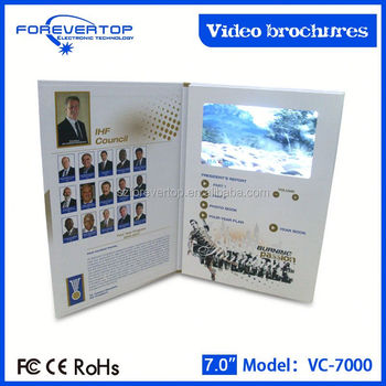 Artifical type new invitation card promotion message video greeting card