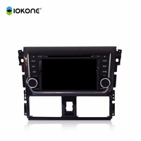 2 din 7 inch Car DVD Player with GPS Navigation TV BT IOPD FM AM for TOYTOA Yaris/VIOS 2014