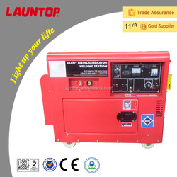 180A High Quality Silent diesel welding generator with 186FA engine