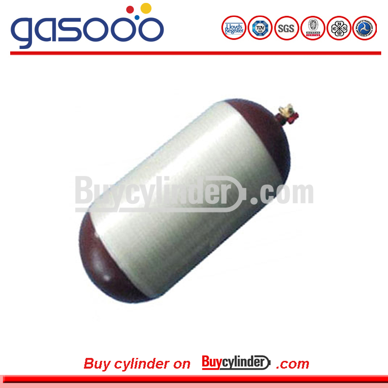 CNG Cylinder Type 2 Composite Steel Liner Hoop Wrapped Cylinder with Glass Fiber