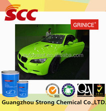 Good flow and fast drying two-pack green auto paint