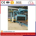 Metallic Structures Roller conveyor blast cleaning machine for surface treatment