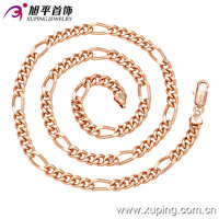 42621 fashionable jewelry russian simple men necklaces with rose gold color indian jewellery