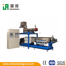 Twin Screw Sinking Feed Floating Fish Food Extruder Machine