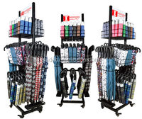 high quality Adjustable umbrella display rack stand with wheel