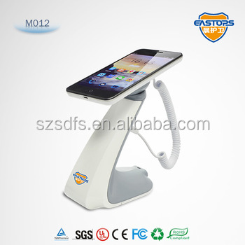 Plastic security display solution security display holder with alarm and charging function for mobile phone exhibition