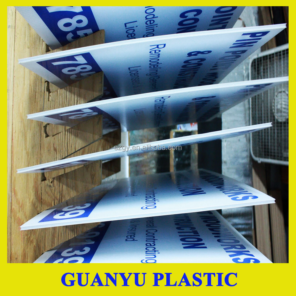 PP Corflute Sheet Advertising Sign Board,PP Corrugated Sheet for Sign Board