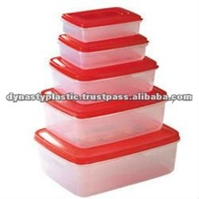 Plastic food container all 6 sizes fit in each other