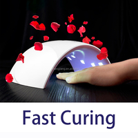 Dual light source fastest curing uv gel dryer for gel polish,uv hand dryer nail lamp with 1 year warranty