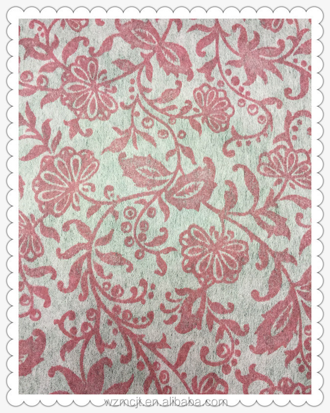 Flower Pattern ,Non-woven Wipes ,Customized Cleaning Cloth,Chemical Bond